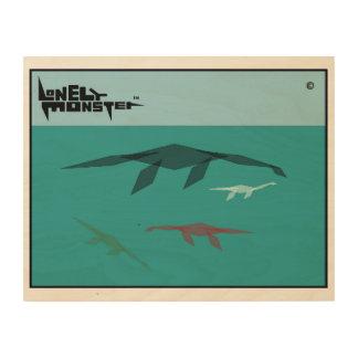 Cubist-einsame Monster-Familie Holzwanddeko