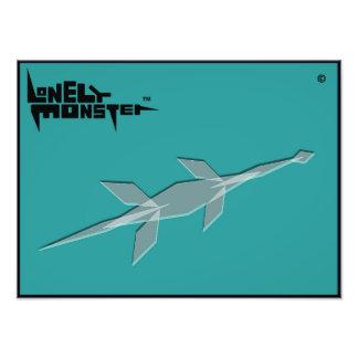 Cubist-einsames Monster Fotodruck