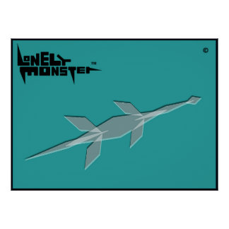 Cubist-einsames Monster Poster