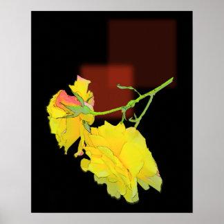 Cubist-Rose Poster