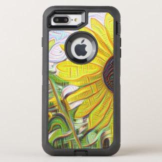 Cubist-Sonnenblume OtterBox Defender iPhone 8 Plus/7 Plus Hülle
