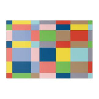 Cubist-Steppdecken-im Frühjahr Farben Acryldruck