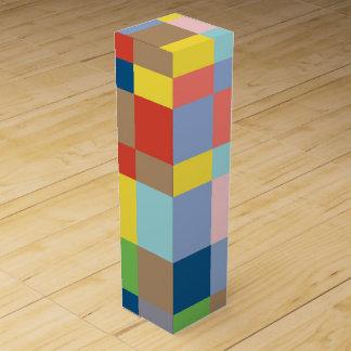 Cubist-Steppdecken-im Frühjahr Farben Wein-Geschenkverpackung