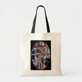 Cubist-Zahl Wiedergabe Tasche