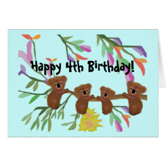 Cuddly Koala-Geburtstagskarten Karte