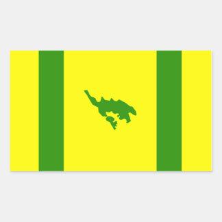 Culebra Flagge Rechteckiger Aufkleber