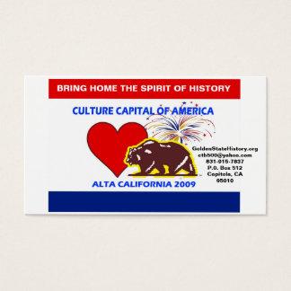 CultureCapital-Druck, GoldenStateHistory.org   … Visitenkarte