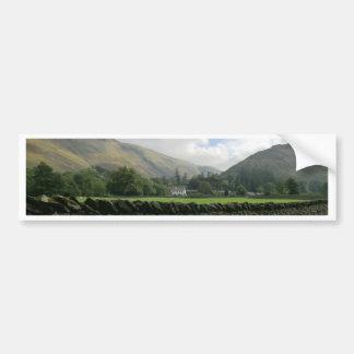 Cumbrian Bruchstein-Wand bei Howtown Autoaufkleber