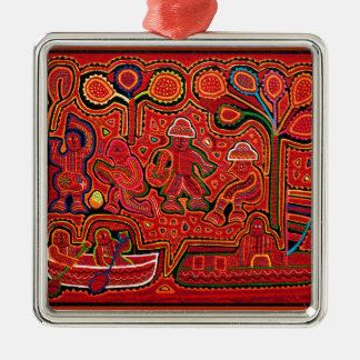 Cuna indische Männer in Cayucos Silbernes Ornament
