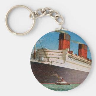 Cunard der weißen Queen Mary Stern-Linie Schlüsselanhänger