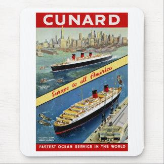 Cunard Europa nach alles Amerika Mousepads