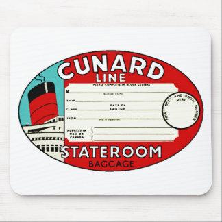 Cunard Linie Gepäck-Aufkleber Mousepads