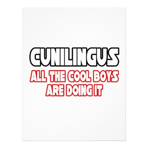 Cunilingus… alle coolen Jungen tun es 21,6 X 27,9 Cm Flyer