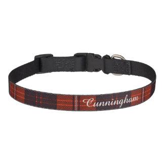 Cunningham Clan karierter schottischer Tartan Haustierhalsbänder