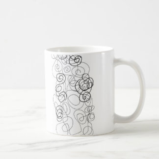 cup with abstract lines kaffeetasse