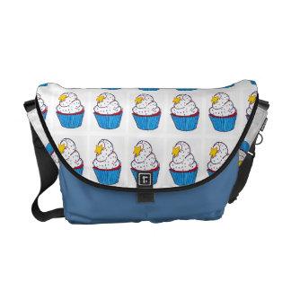 Cupcake Collage Messenger Bag Kurier Tasche
