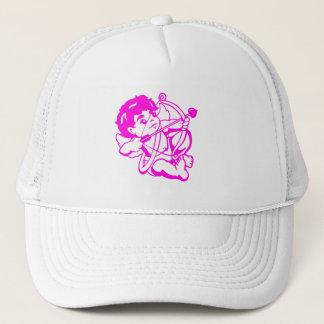 Cupido Amor in Lila Truckerkappe