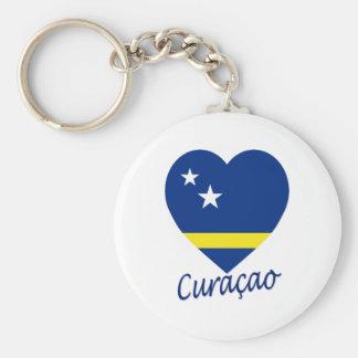 Curaçao kennzeichnen Herz Schlüsselanhänger