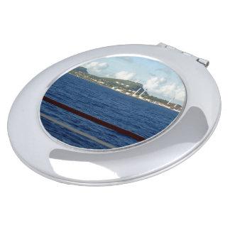 Curaçao-Küstenlinie in der Ansicht Taschenspiegel