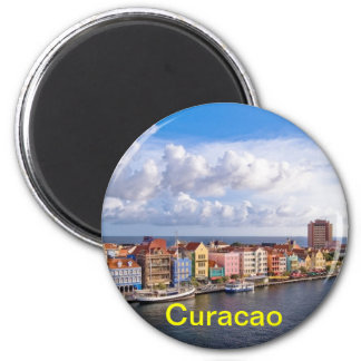 Curaçao-Magnet Runder Magnet 5,7 Cm