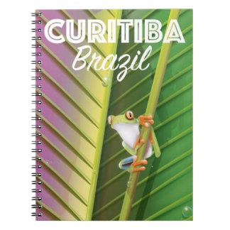 Curitiba, Brasilien-Reiseplakat Spiral Notizblock