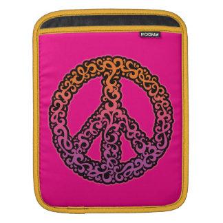 Curlicue Friedenssymbol iPad Sleeve