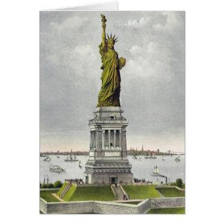 Currier u. Ives - Gruß-Karte - Freiheitsstatue Karte