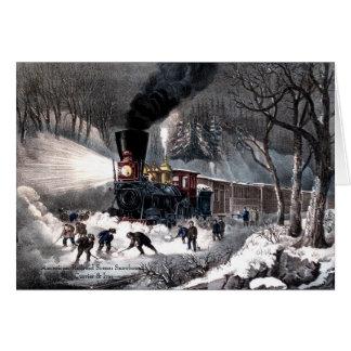 Currier u. Ives - Gruß-Karte - Snowbound Karte