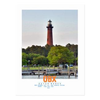 Currituck Strand-Leuchtturm Postkarte