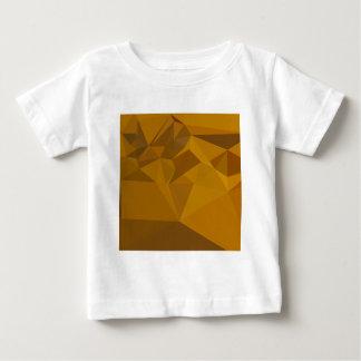 Curry-gelber abstrakter niedriger baby t-shirt
