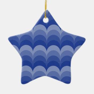 Curvy Wellen Keramik Stern-Ornament