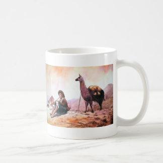 Cusco Peru Lama-Bild Kaffeetasse