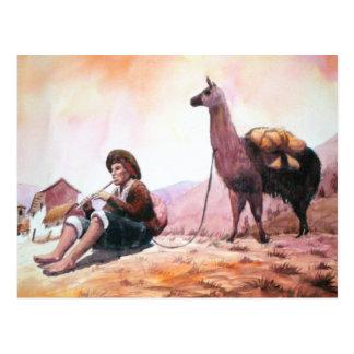 Cusco Peru Lama-Bild Postkarte