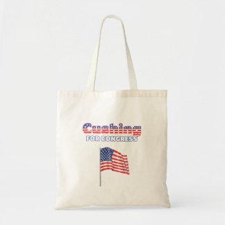 Cushing für Kongress-patriotische amerikanische Fl Budget Stoffbeutel