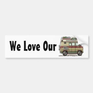 Custom Van Camper RV Bumper Sticker Autoaufkleber