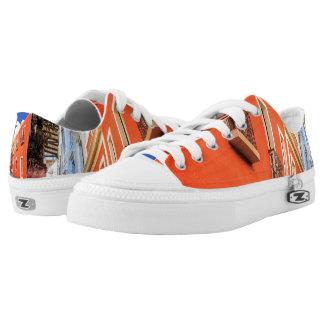 Custom Zipz Hausschuhe Low Top, Größe 4, Niedrig-geschnittene Sneaker