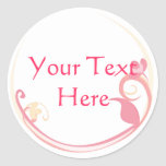 Customizable Pink Flower Stickers