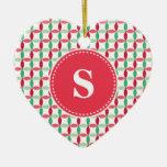 Customized Christmas Modern Pattern Christmas Ornament