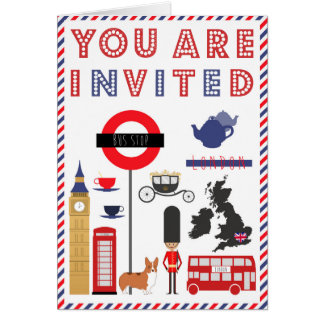 Custon ikonenhafte London Reise-Einladungs-Karte Karte