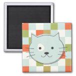 Cute Cat Quadratischer Magnet