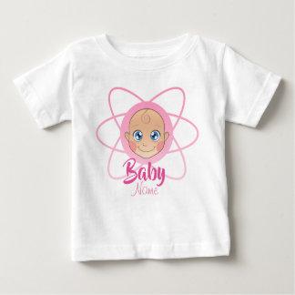 Cute Custom Name Jersey Baby Girl Shirt Pink