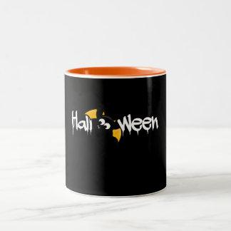 Cute Halloween Bat - Fledermaus Zweifarbige Tasse