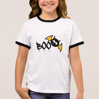 Cute Halloween Boo Bat - Fledermaus Ringer T-Shirt