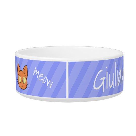"cute ""hungry cat"" bowl - CUSTOM NAME Napf"