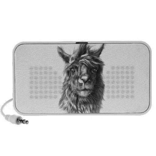Cute Llama Porträt iPod Lautsprecher