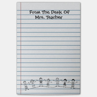 Cute School Kids Teacher Post-its Post-it Haftnotiz