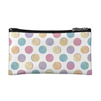 Cute urban modern polka dots schick cosmetic bag