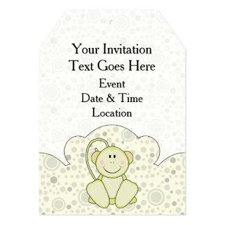 Cutelyn Baby-Affe 12,7 X 17,8 Cm Einladungskarte