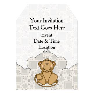 Cutelyn goldener Affe 12,7 X 17,8 Cm Einladungskarte