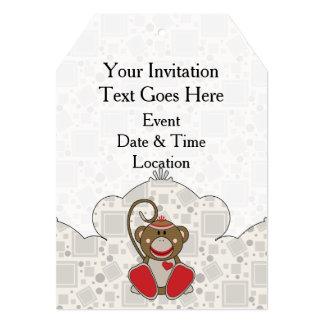 Cutelyn Socken-Affe 12,7 X 17,8 Cm Einladungskarte